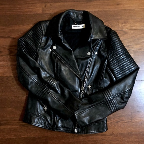 Whistles Jackets & Blazers - Whistles Leather Moto Jacket